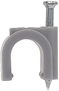 Morris 35008 Round Coaxial Cable Clip, Plastic, RG 59, CAT 5 UTP 4 Pair Wire Size (Pack of 100)
