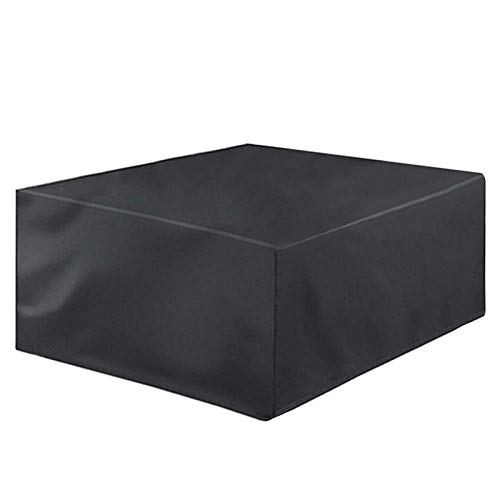 WZDD 160x160x80cm Garden Furniture Covers Waterproof, Garden Table Cover Square, Black Outdoor Patio Furniture Covers Set for Rectangle Table and Chairs