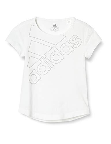 adidas GN3956 G Logo T1 T-Shirt Girls White/Grey Two 5-6A