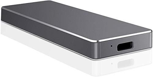 Disco duro externo de 1 TB 2 TB tipo C USB 3.1 portátil externo HDD compatible con Mac Laptop y PC(2TB-A Black)