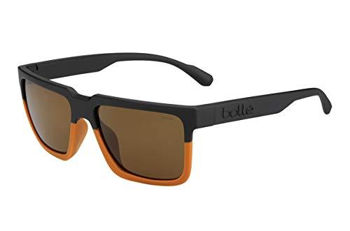 bollé Frank - Gafas de sol Matte Grey Cristal Medium Unisex Adulto, Unisex adulto, 12556, Matte Black Caramel, M