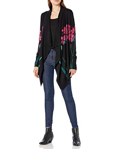 Desigual Womens JERS_Amarante Pullover Sweater, Black, S