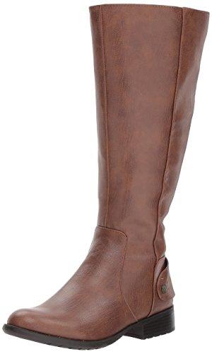 LifeStride Women's XANDYWC Equestrian Boot, Dark tan wc, 5 M US