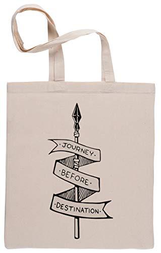 Journey Before Destination Sac à Provisions Réutilisable Shopping Bag Beige