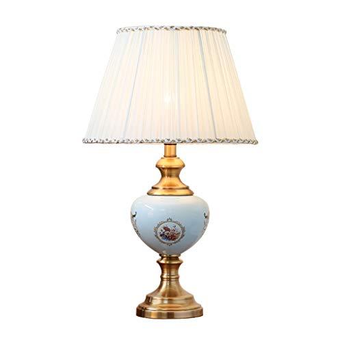 Tafellamp voor de werkkamer, woonkamer, hoekbank, bijzettafel, slaapkamer, nachtkastje, Villa keramiek, bureaulampen, 36 x 36 x 60 cm