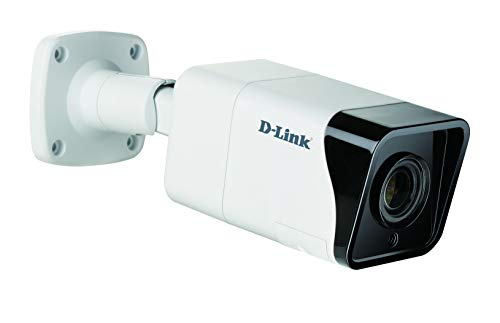 D-Link DCS-4718E Videocamera Vigilance Bullet da 8 Megapixel H.265 per esterni 4K Ultra HD, visione notturna, WDR, LowLight +, Varifocale motorizzato, PoE, IP66, IK10, slot per micro SD, ONVIF