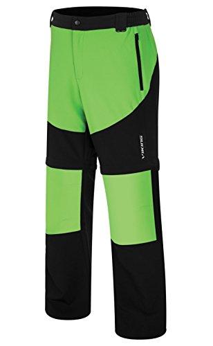 VIKING Pantalon Fonctionnel pour Homme - Jambes De Pantalon Amovibles - pour Le Trekking, l'escalade - Respirant - Colorado Man, Noir/Vert, M