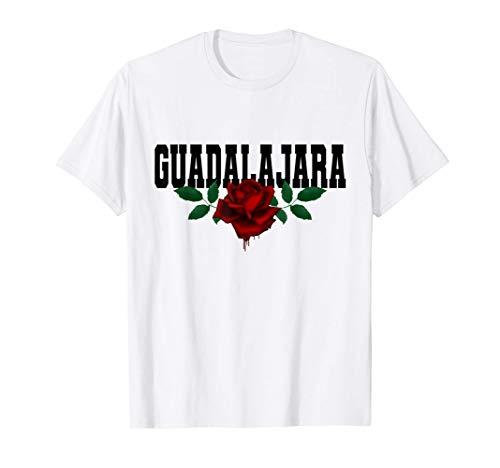 Guadalajara España - Spain Heritage Bleeding Rose Souvenir Camiseta