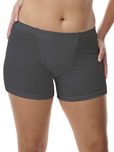 Vulvar Varicosity and Prolapse Support Brief with Groin Compression Bands - Black - X-Large