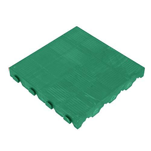 ART PLAST Azulejo cerrado 40 x 40 cm, 100% PVC, resistente a la intemperie verde