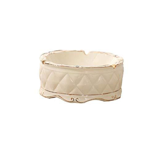 XiYou Cenicero Caja de cigarros, humidor cenicero de cerámica Europeo Moderno Minimalista...