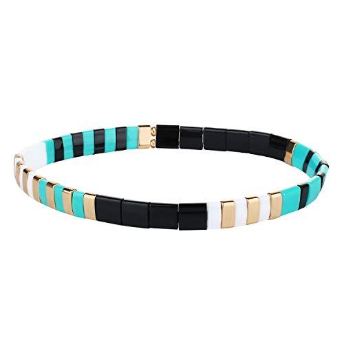 KANYEE Bracelets élastique Bracelets D'amitié Fait Main Bracelets Perlés Tila Bracelets Breloques De Mode pour Femme – 9L