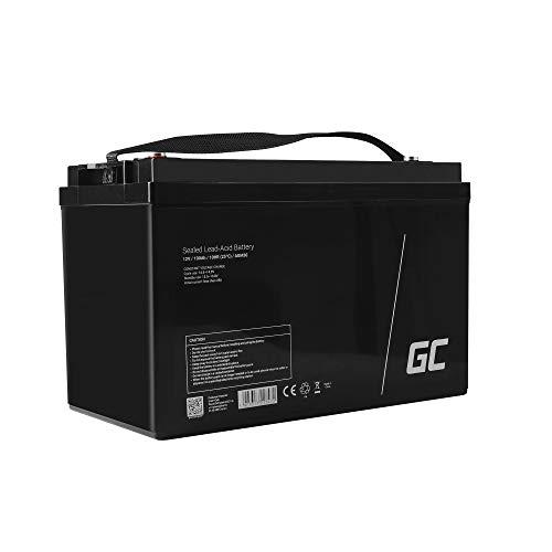 Green Cell Batteria Lead Acid AGM 12V 100Ah Al Piombo Ricaricabile Ciclica Pila batteria Ermetica Batterie di ricambio per Barca Solarpanel Fotovoltaico Pannelli Solari Camper Solare Solar