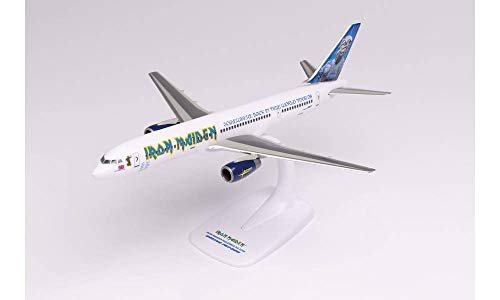 """Herpa Boeing 757 -200 Iron Maiden (Astraeus) """"Ed Force One"""" - Somewhere Back in Time World Tour 2008 – G-OJIB - Modèle à emboiter 1/200"""
