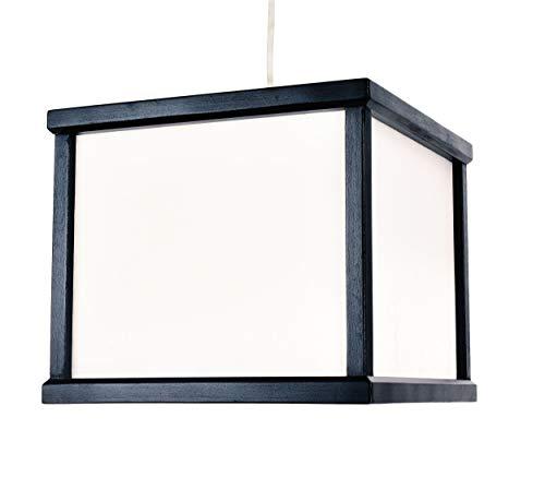 Japanische Asiatische Deckenlampe Mino Hängelampe Hängeleuchte Deckenleuchte aus Holz und Reispapier E27