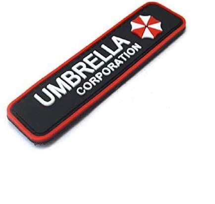3D PVC Patch/badge Umbrella Corporation Logo - Resident Evil avec sa lanière hook & loop Airsoft Paintball Cosplay