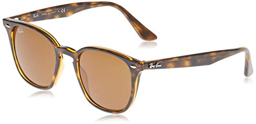Ray-Ban Unisex-Erwachsene RB4258 Sonnenbrille, Mehrfarbig (Gestell: Havana,Gläser: braun 710/73), Small (Herstellergröße: 50)