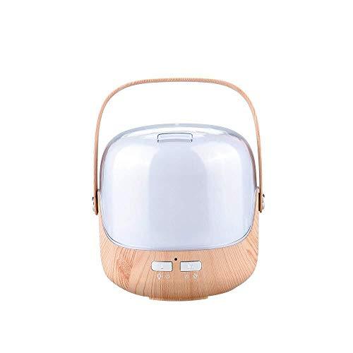 Mini Air Purifier - Kleurrijke etherische olie Wierook Machine - 250ml Ultrasonic High Capacity Office Desktop Wierook luchtbevochtiger 124 * 115 * 153mm (Color : Shallow Wood Pattern)
