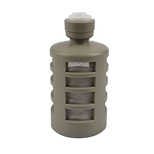 Wnuanjun 1 UNID 1/4'Filtro de Interceptor con un purificador de Agua de la Junta rápida Filtro de la Toma de succión del Filtro de la Bomba de succión de la Bomba de succión a la tubería de 1/4'
