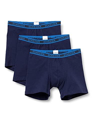 Schiesser Jungen Organic Cotton Boxershorts (3er Pack), mehrfarbig 1, 140