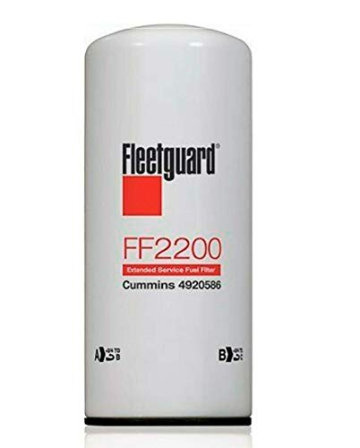FF2200 Genuine Fleetguard Fuel Filter For Cummins 4088272, 4920586 (Pack of 6)