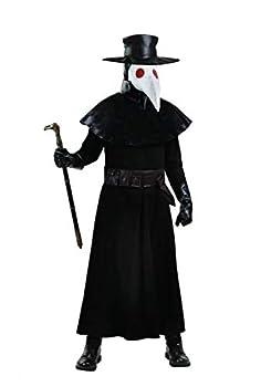 Adult Plus Size Plague Doctor Costume 2X Black