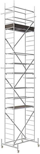 ALTEC Rollfix® 1.0 800 | 8m AH | Rollen (Ø125mm) | Standardtraverse | Made in Germany | TÜV&GS | belastbar 200kg/m² | Alu Arbeitsgerüst | Baugerüst | Fahrgerüst