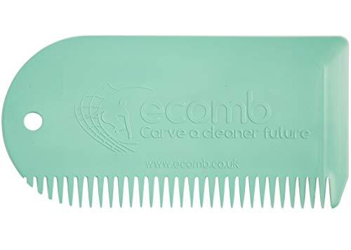 Surfboard Wax Comb - 100% Reclaimed MAarine Waste Plastic (Surf Green) Wax Removal Tool