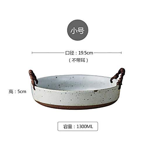 Teller Japanische Kunst Retro Keramik Obstteller Brotkorb Einfache Haushaltssteinzeug Lebensmittelkorb Salat Dessert Schüssel Küchengeschirr As