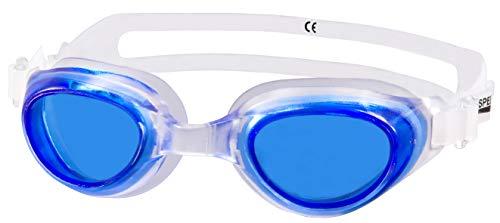 Aqua Speed® AGILA JR Schwimmbrille Goggle Sicherheitsglas AntiFog UV, Farbe:Blau