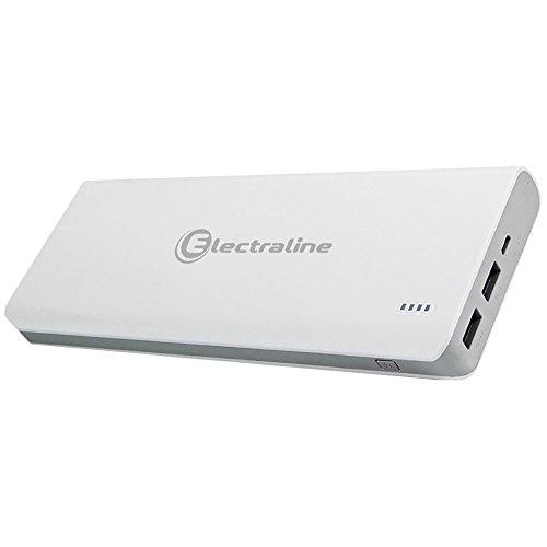 Energaline 500333, externe oplader powerbank met 2 USB 1 A + 2,1 A, 10000 mAh