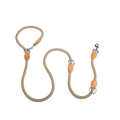 N\C Nuevo Collar de Cadena de Doble Correa para Dos Correas de Perro, Correas de Entrenamiento de Perro Cortas y largas Ajustables de Nailon, Suministros para Mascotas