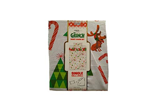 The Grinch Christmas Duvet Cover Set With Pillow Case (SIngle)