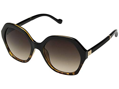 Jessica Simpson J5656 Oversized Sunglasses, Black & Tortoise, 68 mm