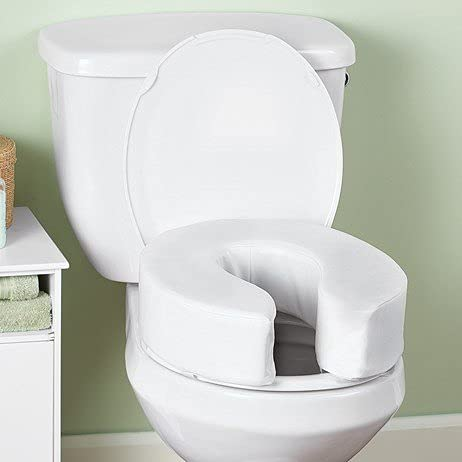 HMD Collections Cushioned Raised Toilet Seat Riser