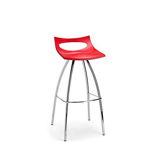 Scab Set 2 Design Diablito Tabouret avec siège h. 65 cm Rouge