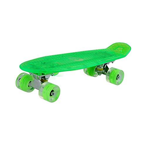 YZH LED-Skateboard mit leuchtendem Brett, beleuchtetem Skateboard mit Vier Rädern, hochwertigen Materialien, starker Abriebfestigkeit und rutschfestem Design - Grün