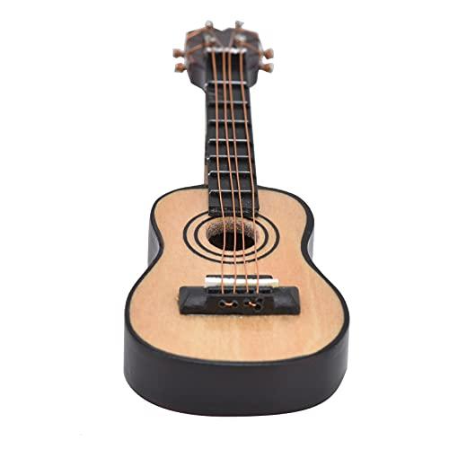 YOIM Casa de muñecas Guitarra en Miniatura, Guitarra en Miniatura Hecha a Mano Bordes Suaves duraderos para Casas de muñecas para Cajas de Habitaciones(Classical Guitar, Blue)