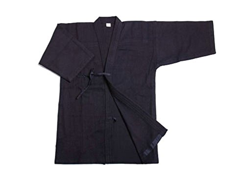 ZooBoo Herren Baumwolle Kendo Aikido Hapkido Hakama Martial Arts Keikogi (XXL/185, dunkelblau)