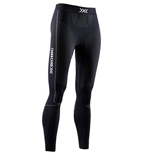 X-Bionic Invent 4.0 Running Pants, Pantaloni da Corsa Jogging Fitness Training Donna Baselayer Leggings Sportivi, Black/Charcoal, M