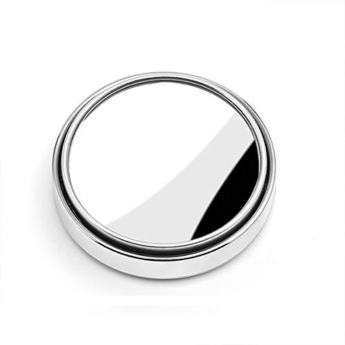 WSDSB 2pcs HD De Cristal De Auto Punto Ciego Espejo Automático De La Motocicleta 360 ° Ajustable Gran Angular Espejos Retrovisores Adicional Accesorios Redondos Cubierta de la Tapa del Espejo