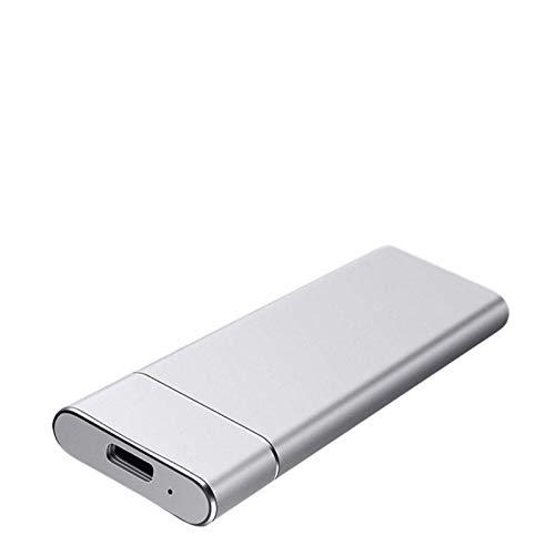 モバイルソリッドステートドライブ、外付けハードドライブ500G 1TB 2TB、タイプ-3.1高速ポータブルハードドライブPC、ノートパソコン、Mac用の外部 (Color : 銀, Size : 500G)