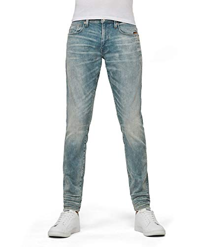 G-STAR RAW Herren Jeans 4101 Lancet Skinny, Sun Faded Scanda Blue C430-B836, 34W / 32L