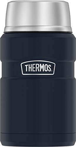 THERMOS Stainless King Vacuum-Insulated Food Jar, 24 Ounce, Matte Blue