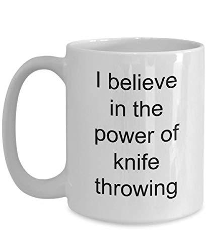 NA Tasse à Café pour Lancer de Couteau Expert Lance-Couteau