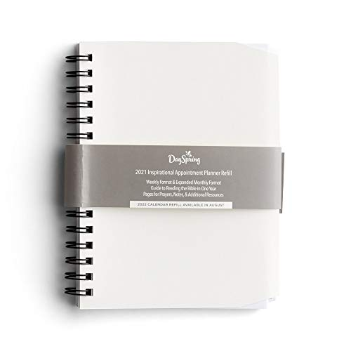 Dayspring 2021 Inspirational Appointment Planner Refill - Weekly and Monthly Format