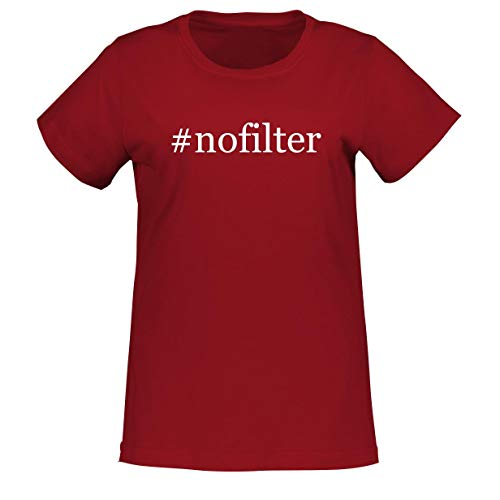 #nofilter - Adult Hashtag L.A.T 3580 Misses Cut Women's T-Shirt, Red, XX-Large