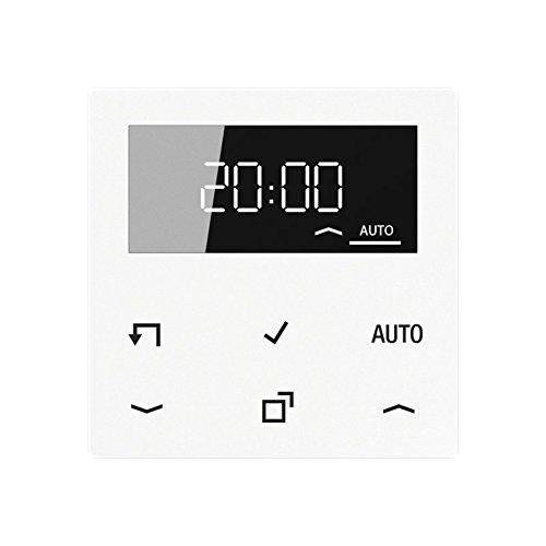 Jung Timer Standard, Display A 1750 D WW Echtglasfront Zeitschalter für Installationsschalterprogramme 4011377153530