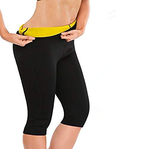 Progoco Pantalones Cortos Suana Deportivos Mujer de Neopreno Sauna Pants para Sudoración,Quema Grasa,Adelgazante Talla L