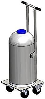 FWF DEWAR Cylinder CART Holds 1 NITROGEN Cylinder Diameter 11.5